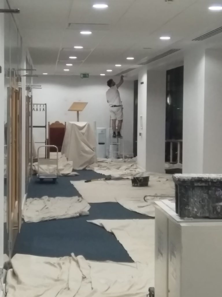 Large office painting services