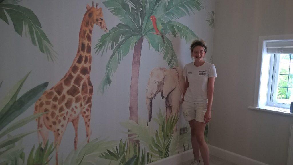 Custom fun commercial wallpapering