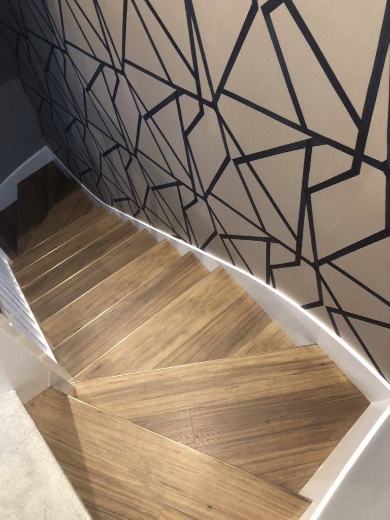 Stairwell residential wallpaper service