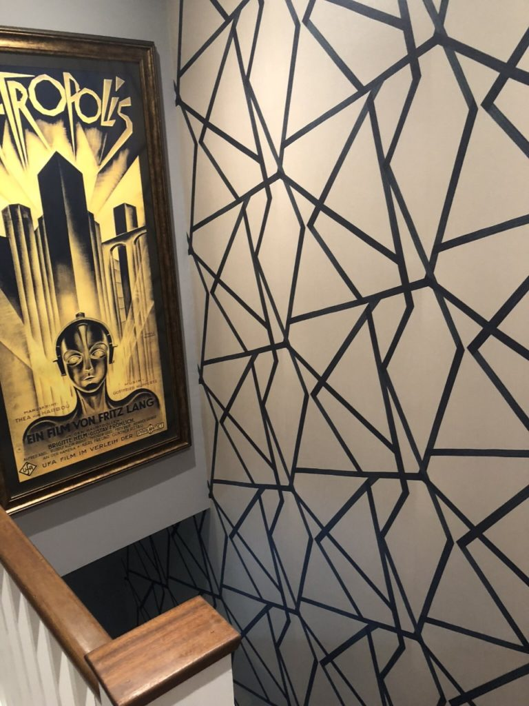 Stairwell residential wallpapering