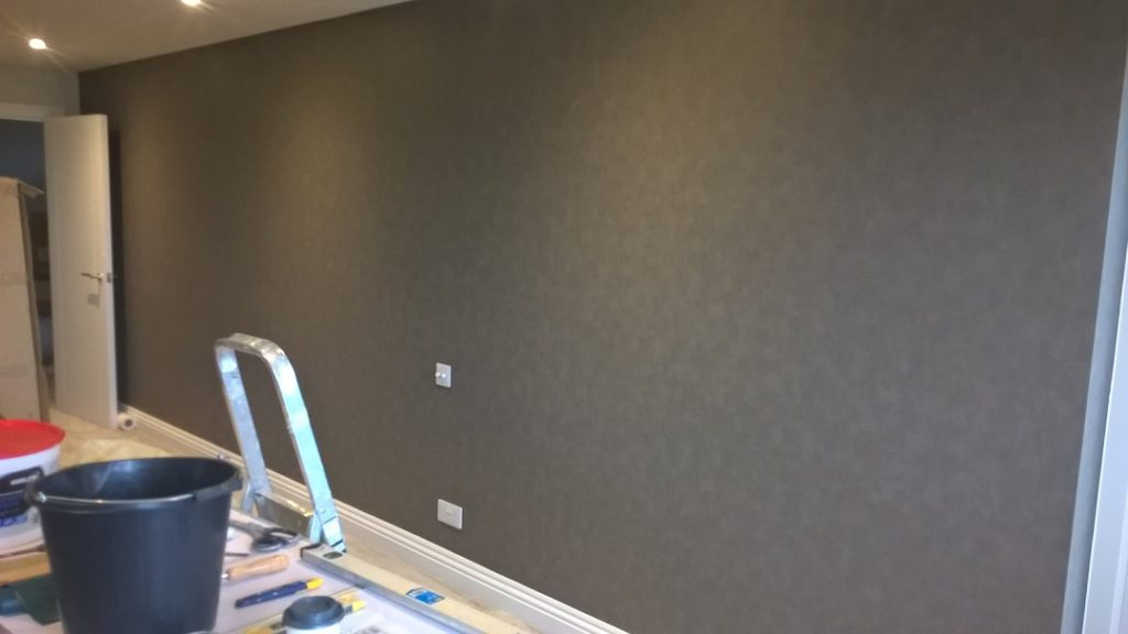 Residential wallpapering service